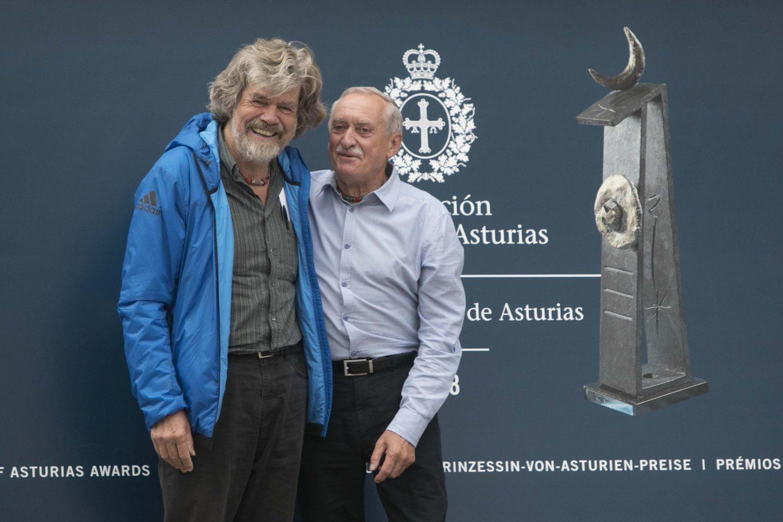 Reinhold Messner y Krzysztof Wielicki, Prmeio Princesa de Asturias de los Deportes.