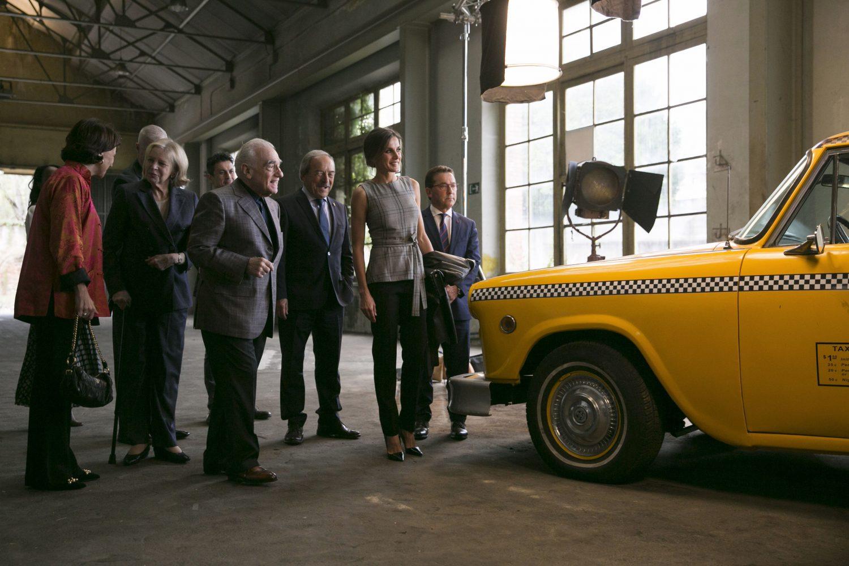 Martin Scorsese y la reina Letizia en la fábrica de La Vega