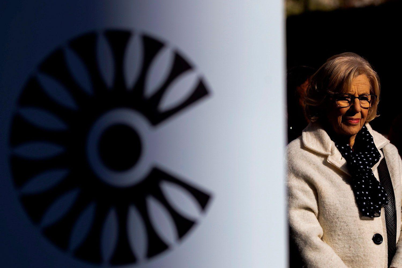 La alcaldesa de Madrid, Manuela Carmena, asiste a un acto de arranque de Madrid Central