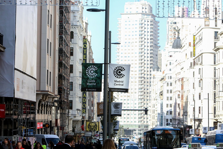 Carteles de 'Madrid Central'