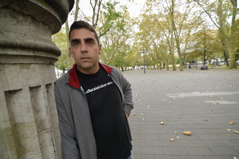 Daniel Durán, en el parque del Muelle.