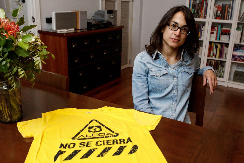 Leonor Otero Rodríguez, en su casa en Gijón