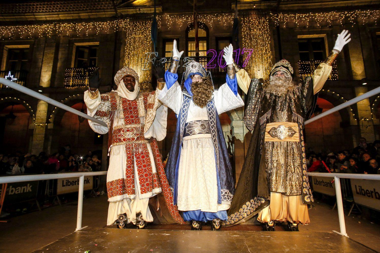 Los tres Reyes Magos en Avilés